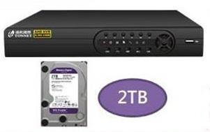 5百萬DVR主機+2T硬碟